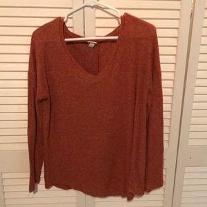 Heather Orange Sweater